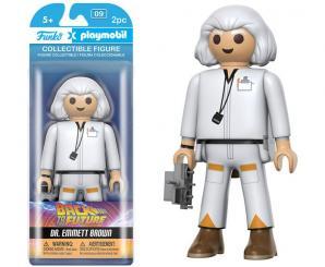 figurine Playmobil retour vers le futur de 15 cm, funko, doc, retour vers le futur, playmobil pop