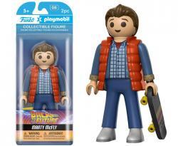 Figurine Playmobil retour vers le futur de 16 cm, funko, marty, macfly, playmobil pop