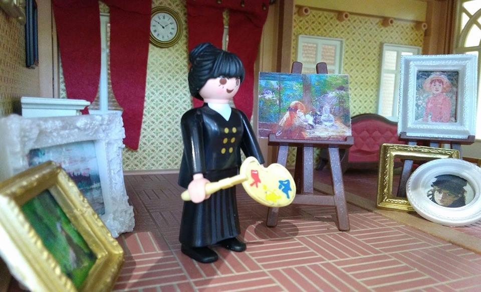 Playmobil peintre berthe morisot impressionisme dominique bethune