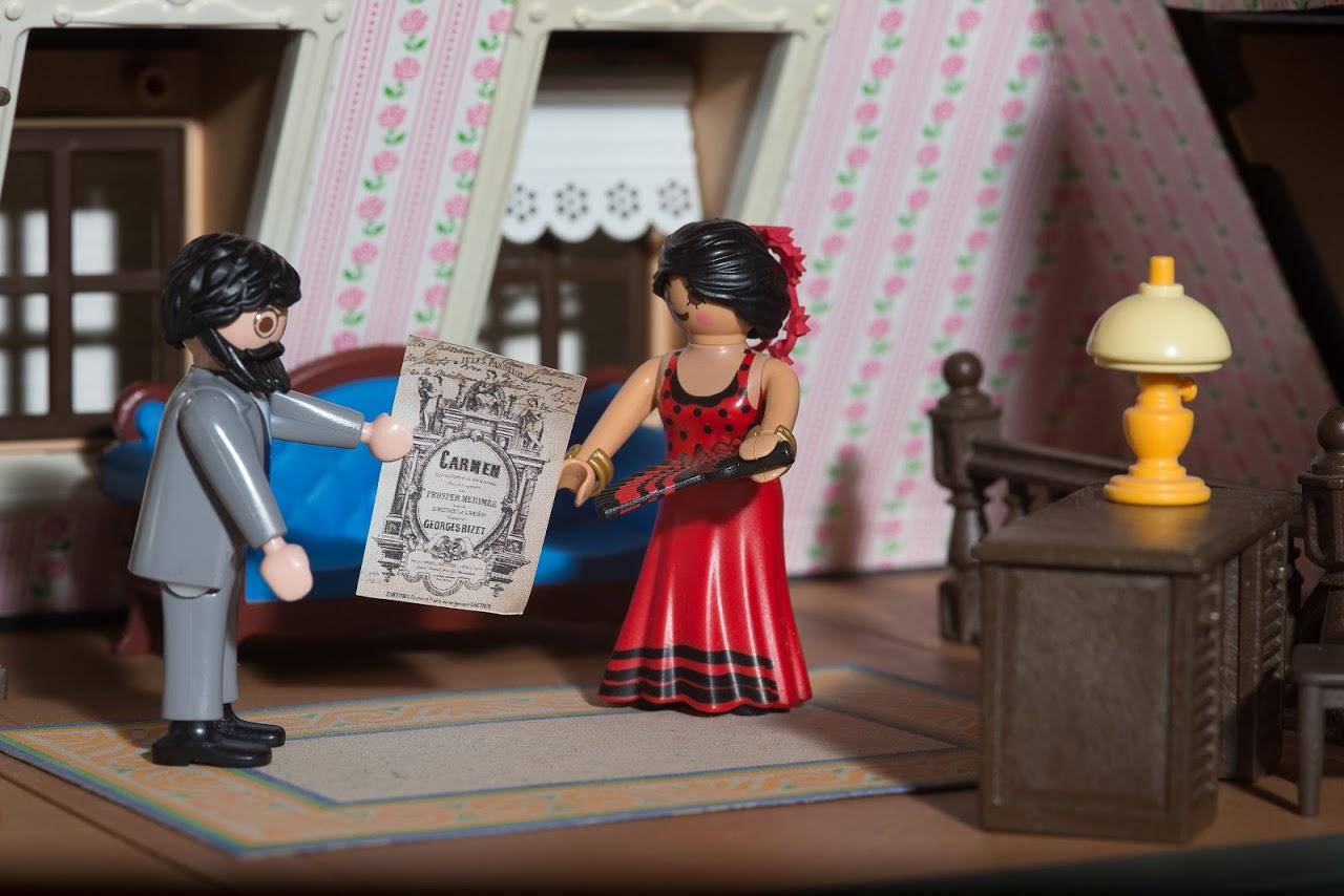 Playmobil peintre charles bize carmen dominique bethune