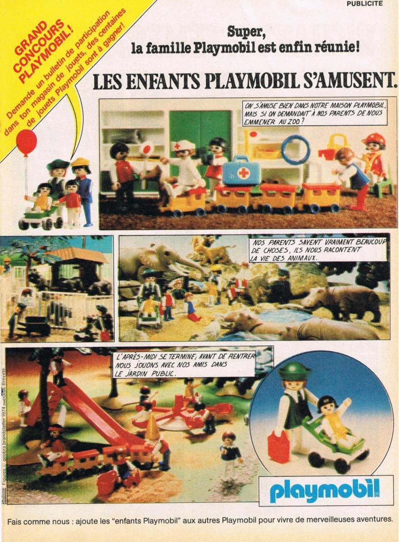 Publicite playmobil dans le journal de mickey enfants
