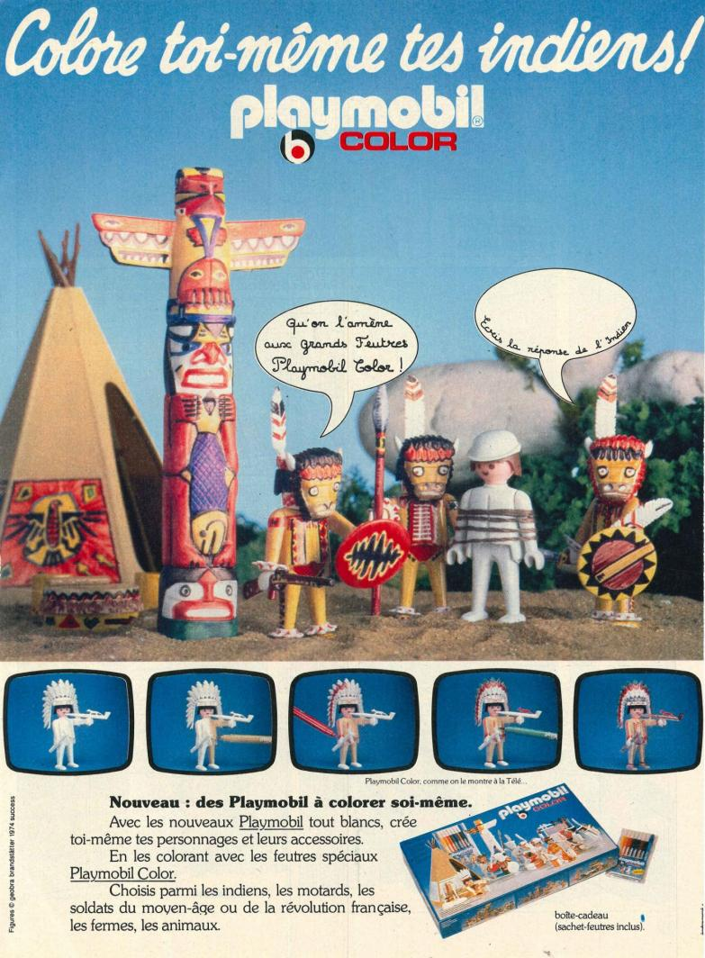 Publicite playmobil dans le journal de mickey indiens color