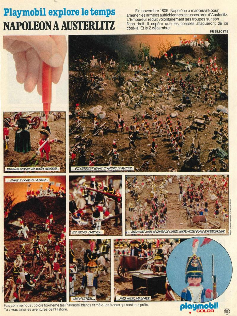 Publicite playmobil dans le journal de mickey napoleon austerlitz color