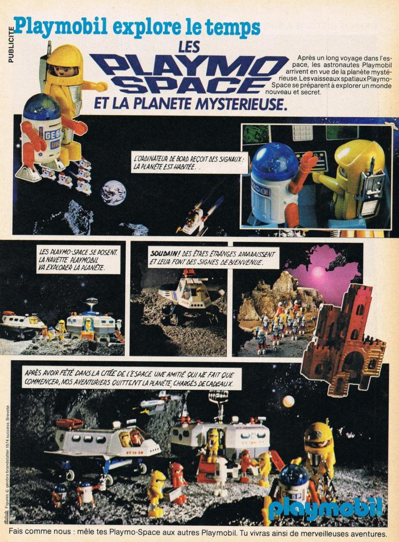 Publicite playmobil dans le journal de mickey playmospace