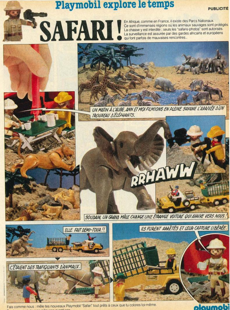 Publicite playmobil dans le journal de mickey safari