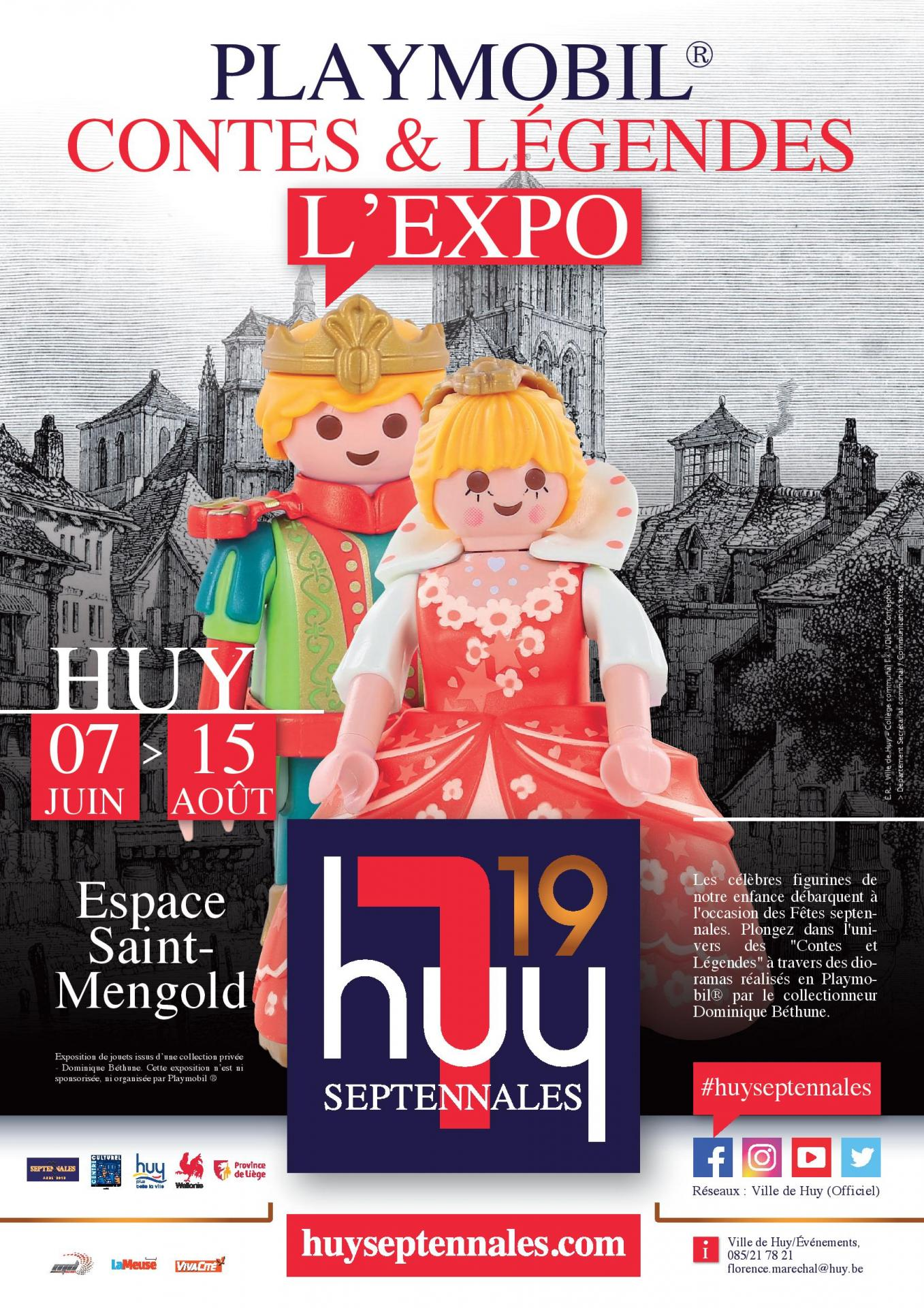 Septennales 2019 event expo playmobil septennales huy affiche a3