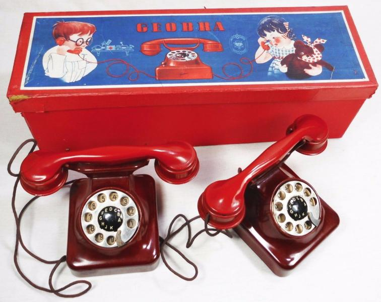 Telephone geobra 1937 bakelite avec boite usine playmobil