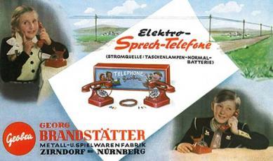 Telephone de 1937 fabrique par Metallwarenfabrik Georg Brandstatter, playmobil, geobra, Brandstatter