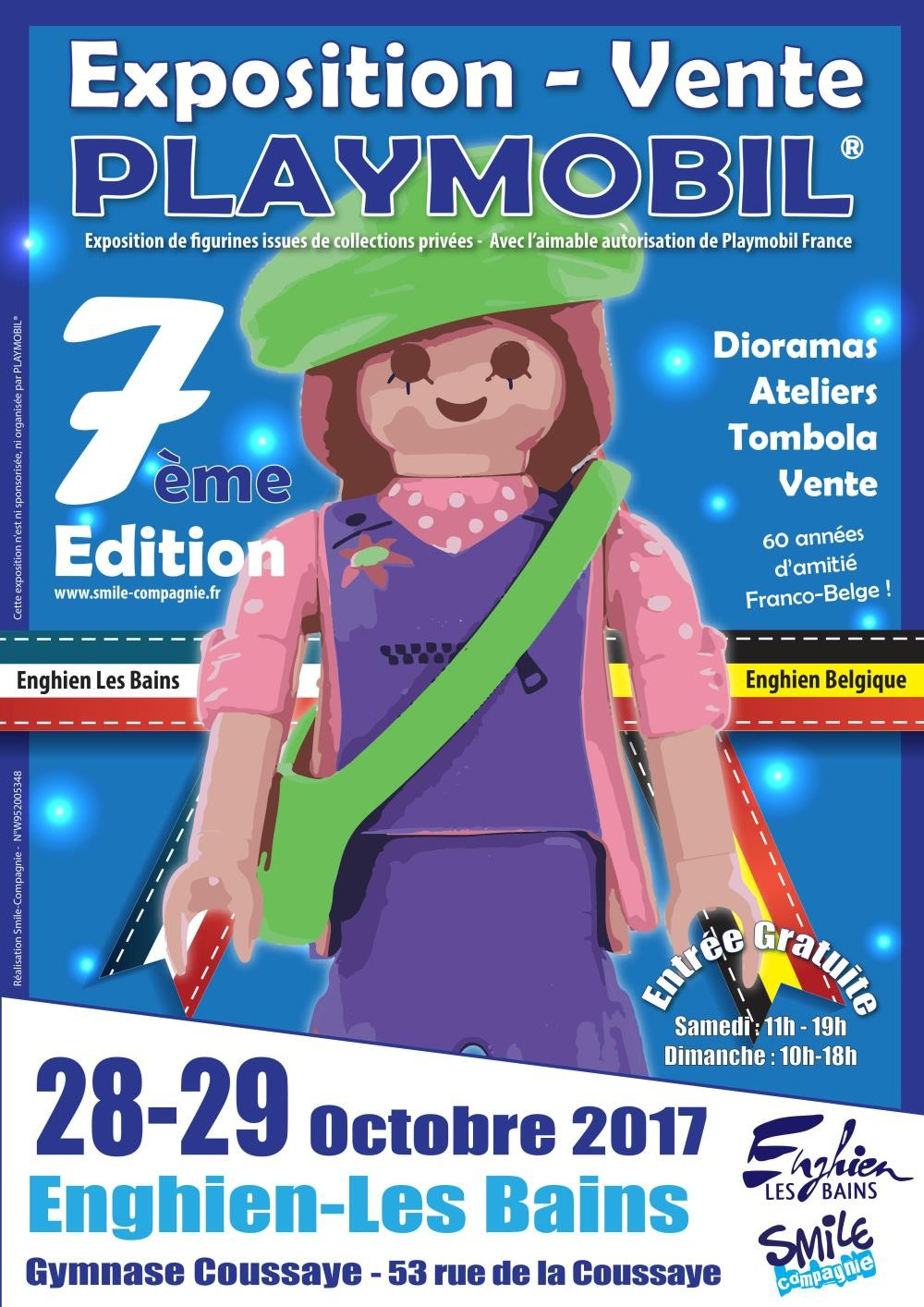 7eme exposition playmobil enghien 2017 smile compagnie