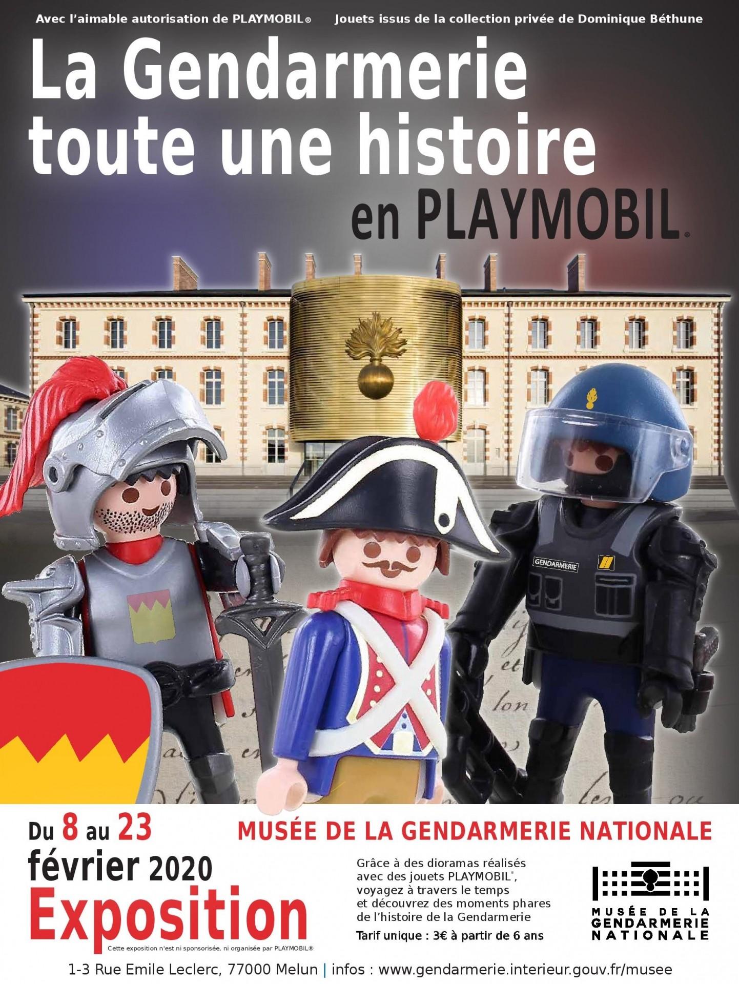 Affiche expo playmobil Musée de la gendarmerie