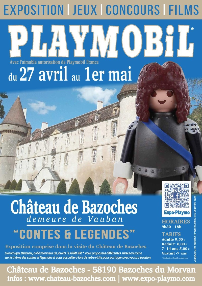 Affiche exposition playmobil chateau de bazoches 2019 dominique bethune