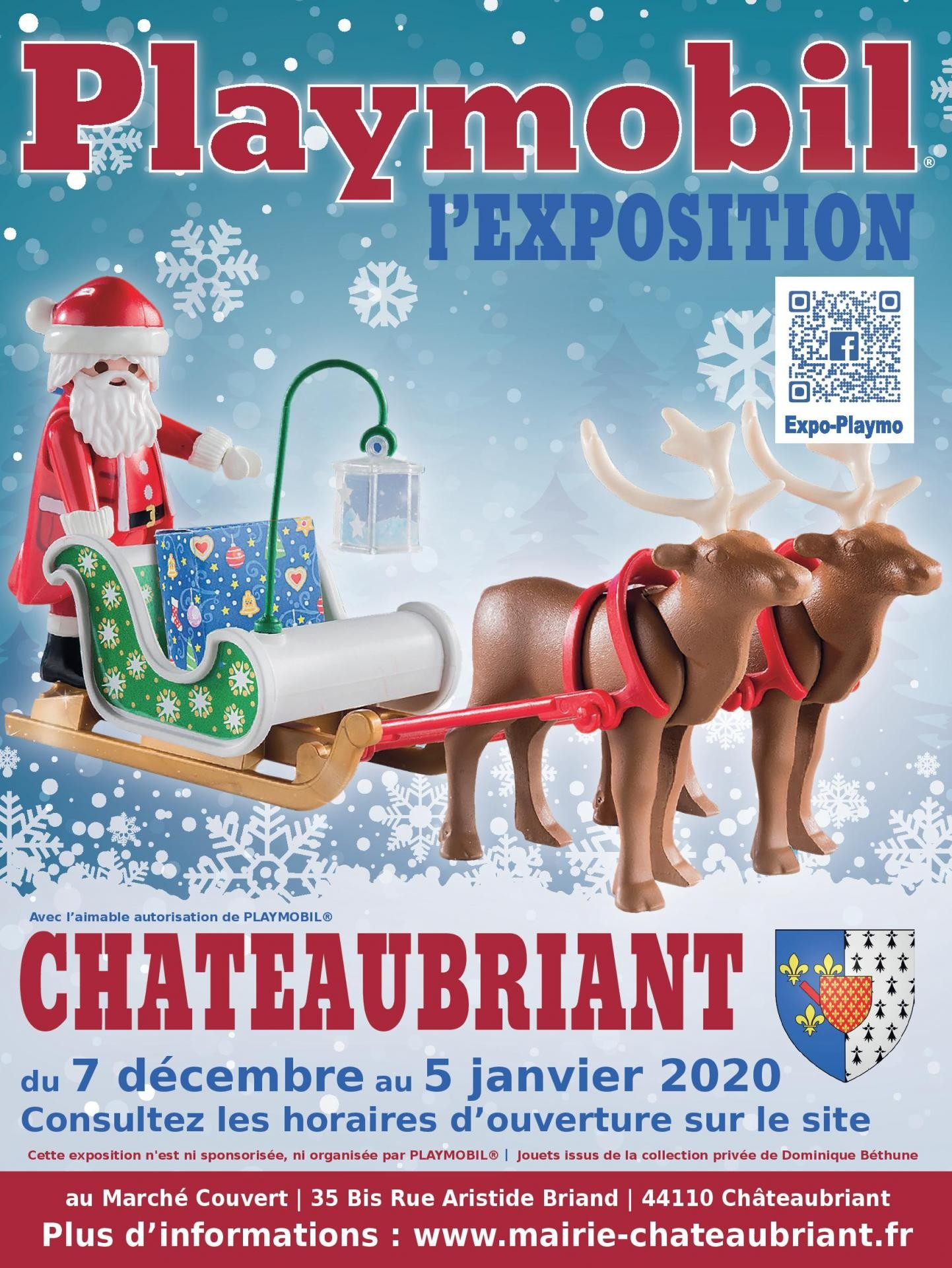 Affiche exposition playmobil chateaubriant 2019 dominique bethune