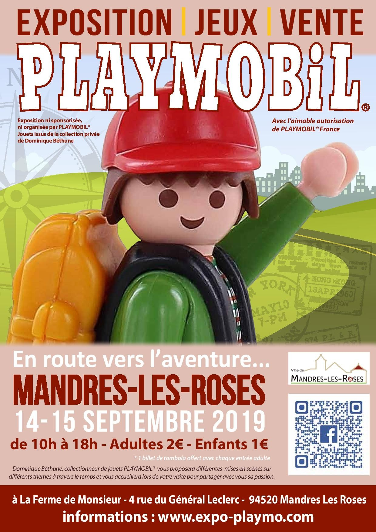 Affiche exposition playmobil mandres 2019 dominique bethune