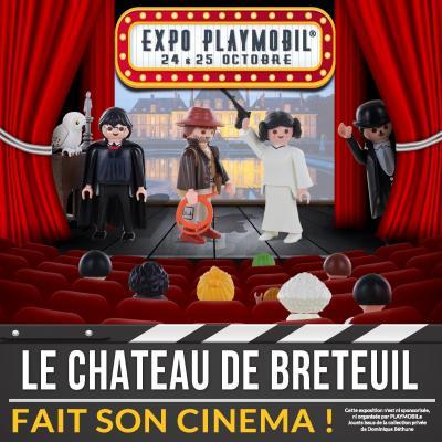 Exposition Playmobil sur le Cinéma au château de Breteuil