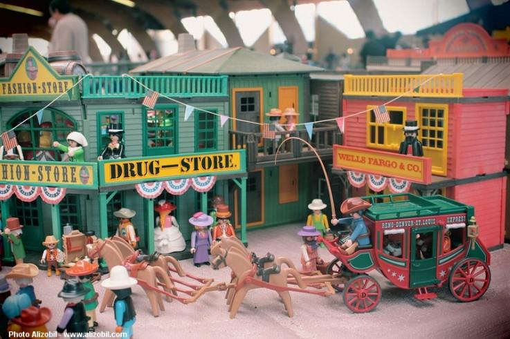 Diorama Playmobil - L'arrivée du cirque Buffalo Bill - Saulieu 2014