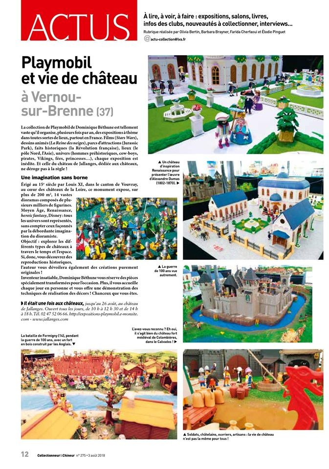 Dominique Béthune Collectionneur de Playmobil et organisateur d'exposition Playmobil