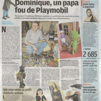 Articles de Presse Expositions Playmobil