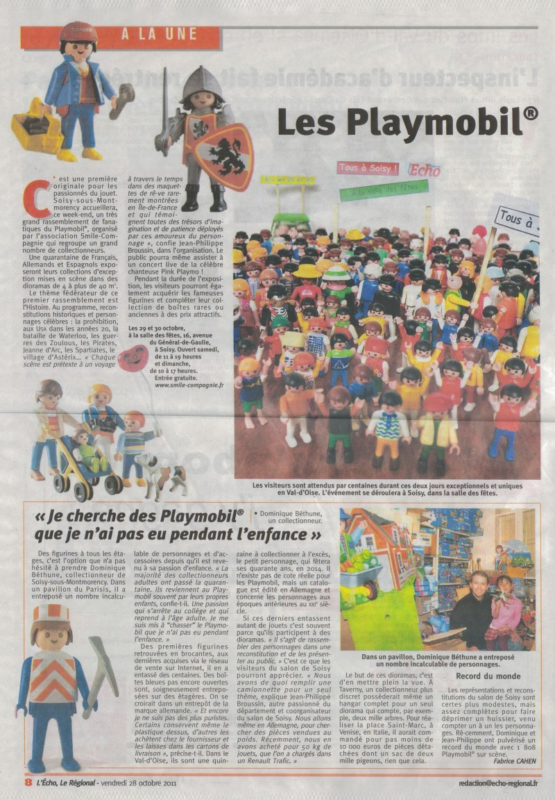 Dominique Béthune Collectionneur de Playmobil en 2011