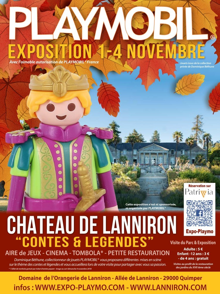 Exposition playmobil chateau de lanniron 29 dominique bethune