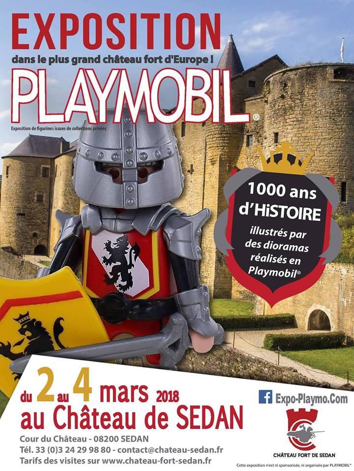 Exposition playmobil chateau de sedan colelction dominique bethune