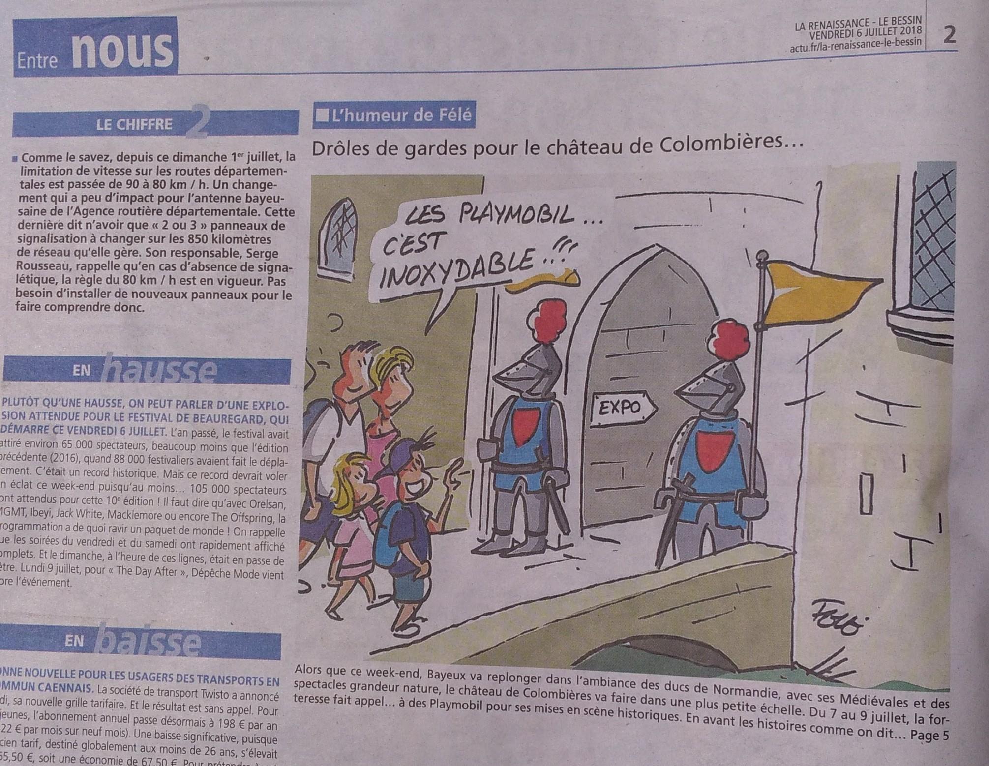 Exposition playmobil Château de Colombieres