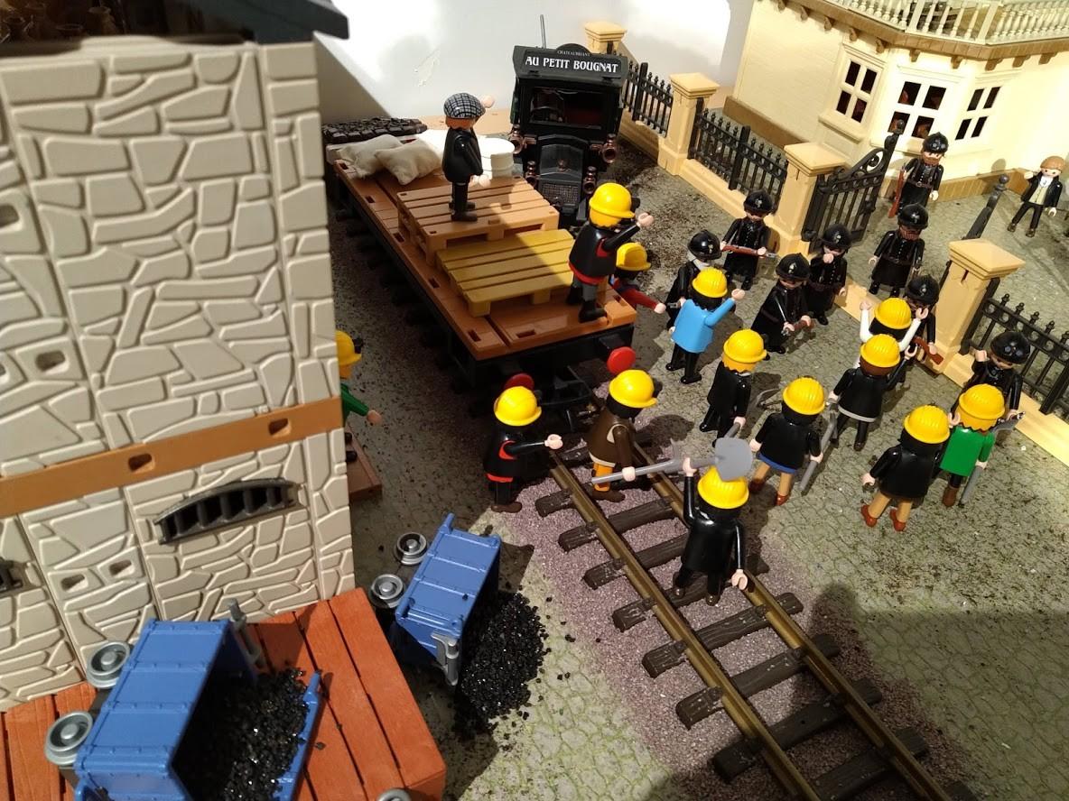 Exposition playmobil : La gendarmerie pendant les grève de 1936