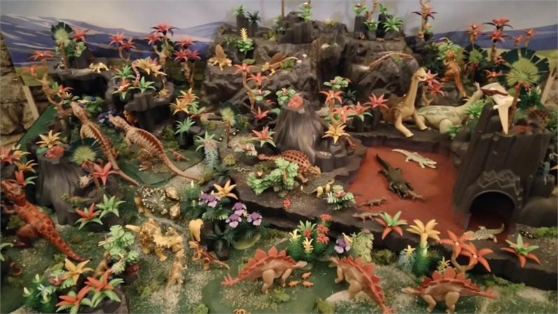 Exposition playmobil sur l'histoire - dinosaures