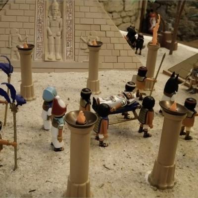 Exposition playmobil sur l'histoire - L'Egypte ancienne