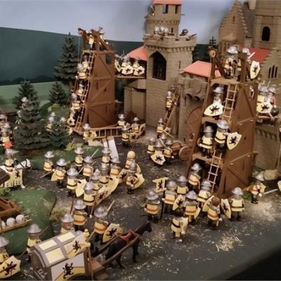 Exposition playmobil sur l'histoire - Jeanne d'Arc à Orléans