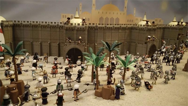 Exposition playmobil sur l'histoire - les croisades