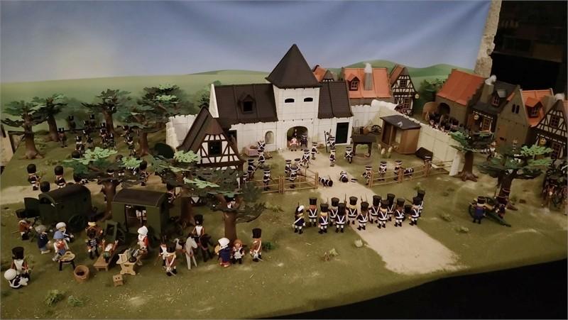 Exposition playmobil sur l'histoire - Napoleon 1815 à ligny dominique bethune