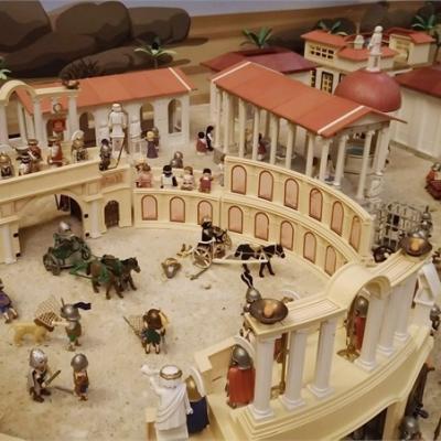 Exposition playmobil sur l'histoire - romains et gladiateurs dominique bethune