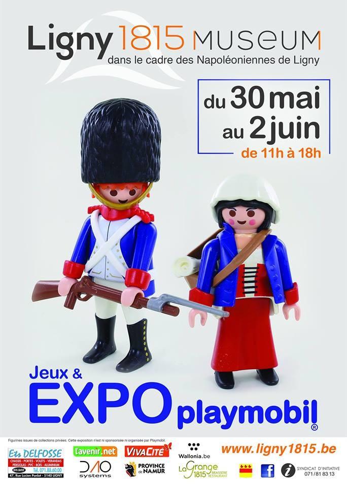 Exposition Playmobil au Musée de Ligny 1815