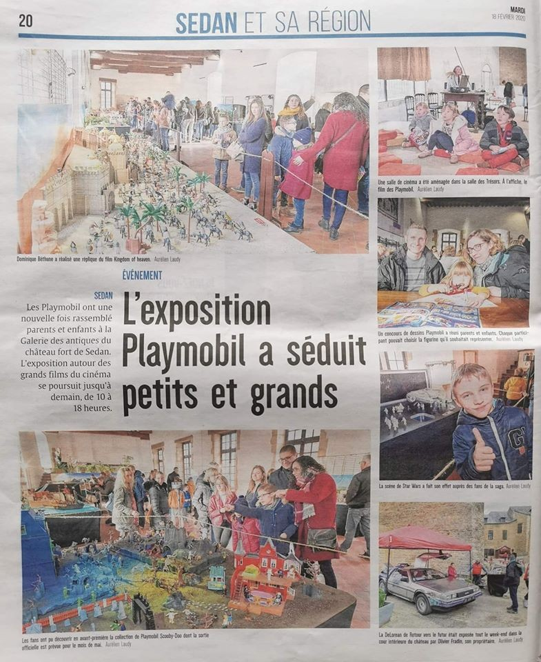 Exposition Playmobil de Sedan 2020