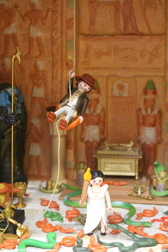 Indiana Jones en Playmobil un diorama réalisé par Dominique Béthune