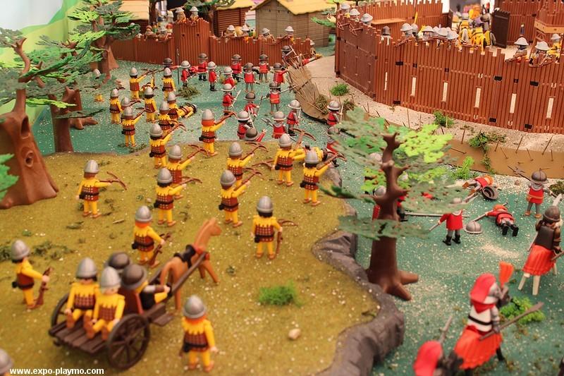 Bataille de Formigny réalisée en Playmobil