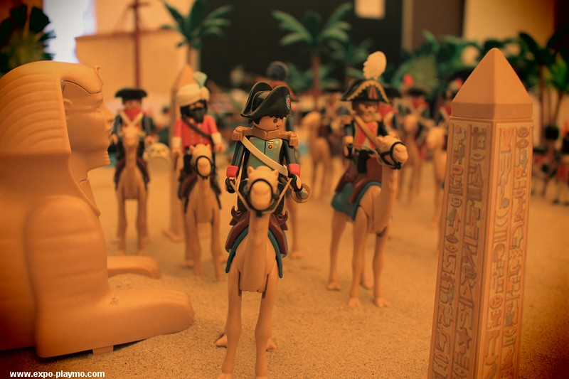 La campagne d'Egypte de Napoléon réalisé en Playmobil