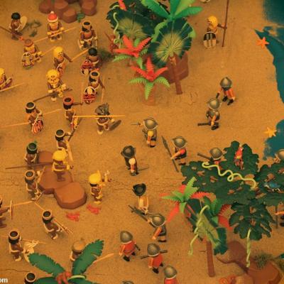 La découverte de l'Amérique par Christophe Colomb réalisée en Playmobil