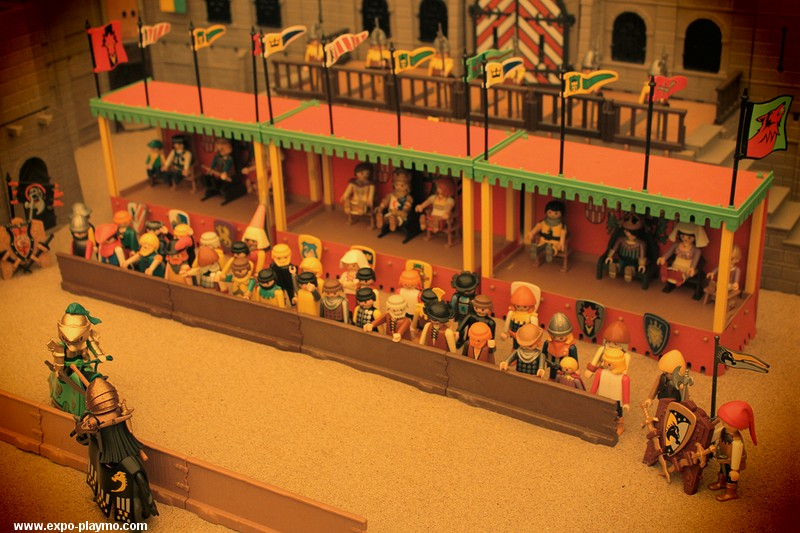 Joutes au moyen-age diorama réalisé en Playmobil