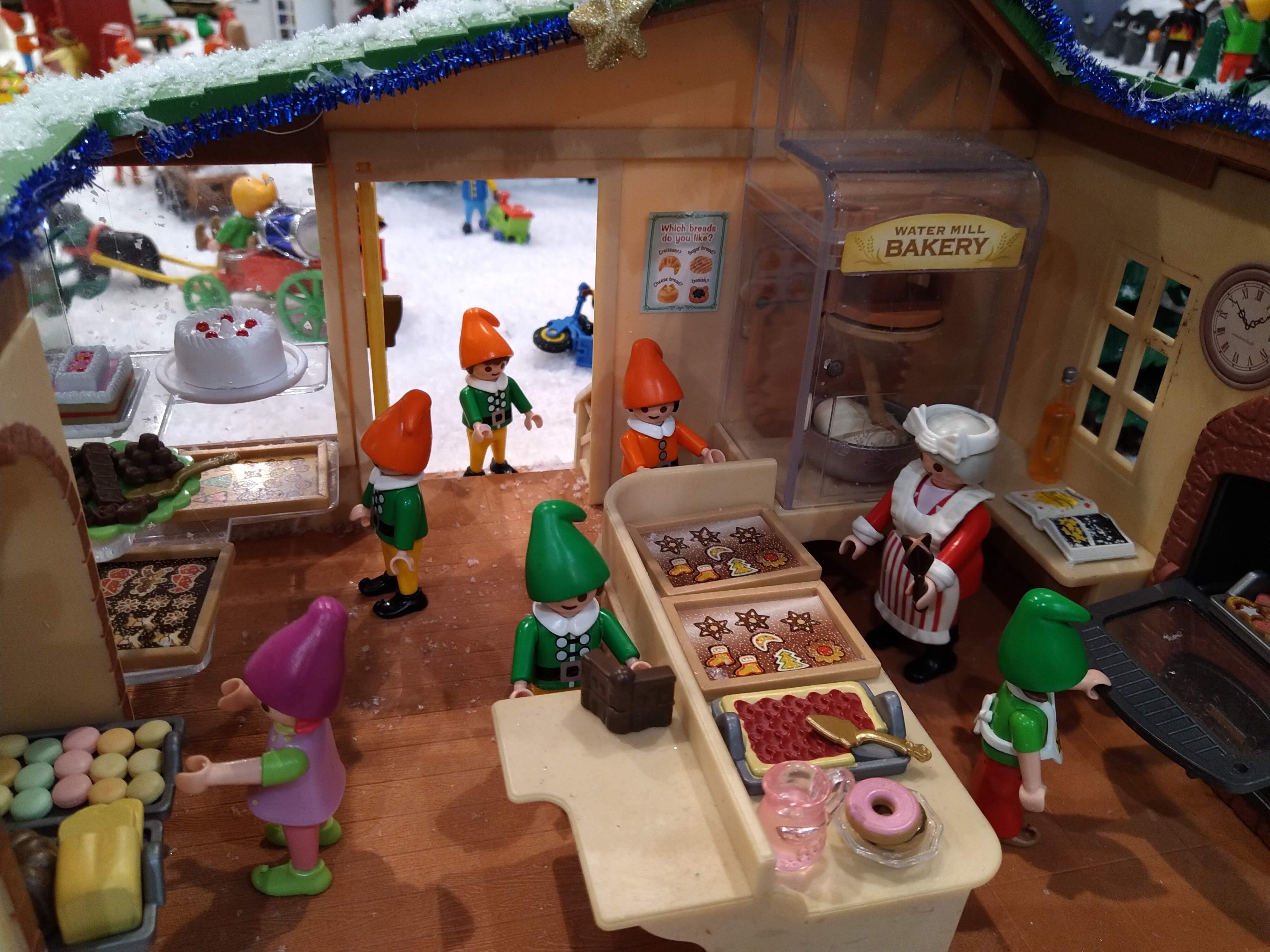 L'atelier des lutins en playmobil