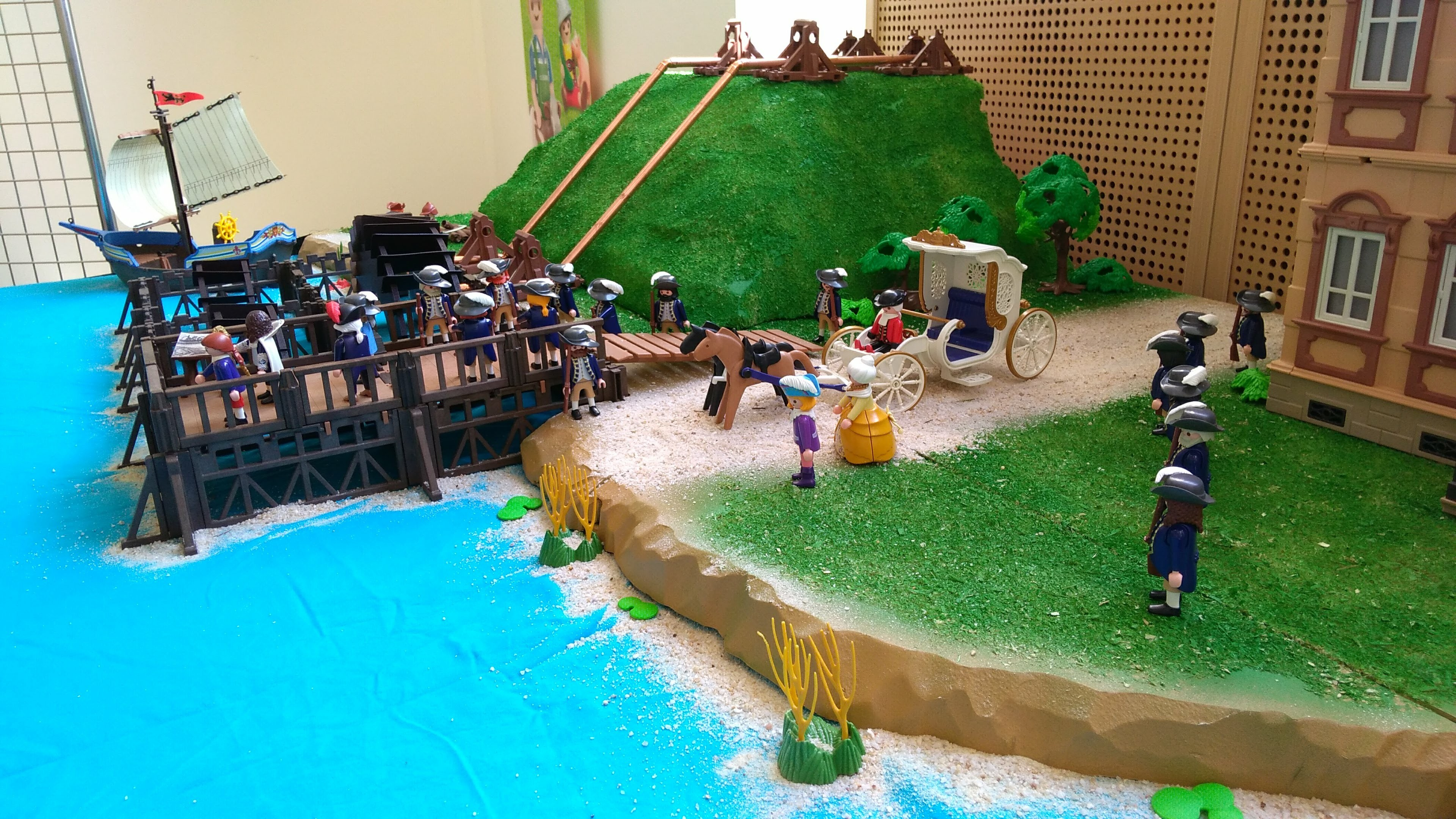 La Machine de Marly imaginée par le roi Louis XIV en Playmobil