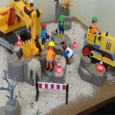 Exposition Playmobil au Musee de l'archéologie et de l'antiquité de l'Oise