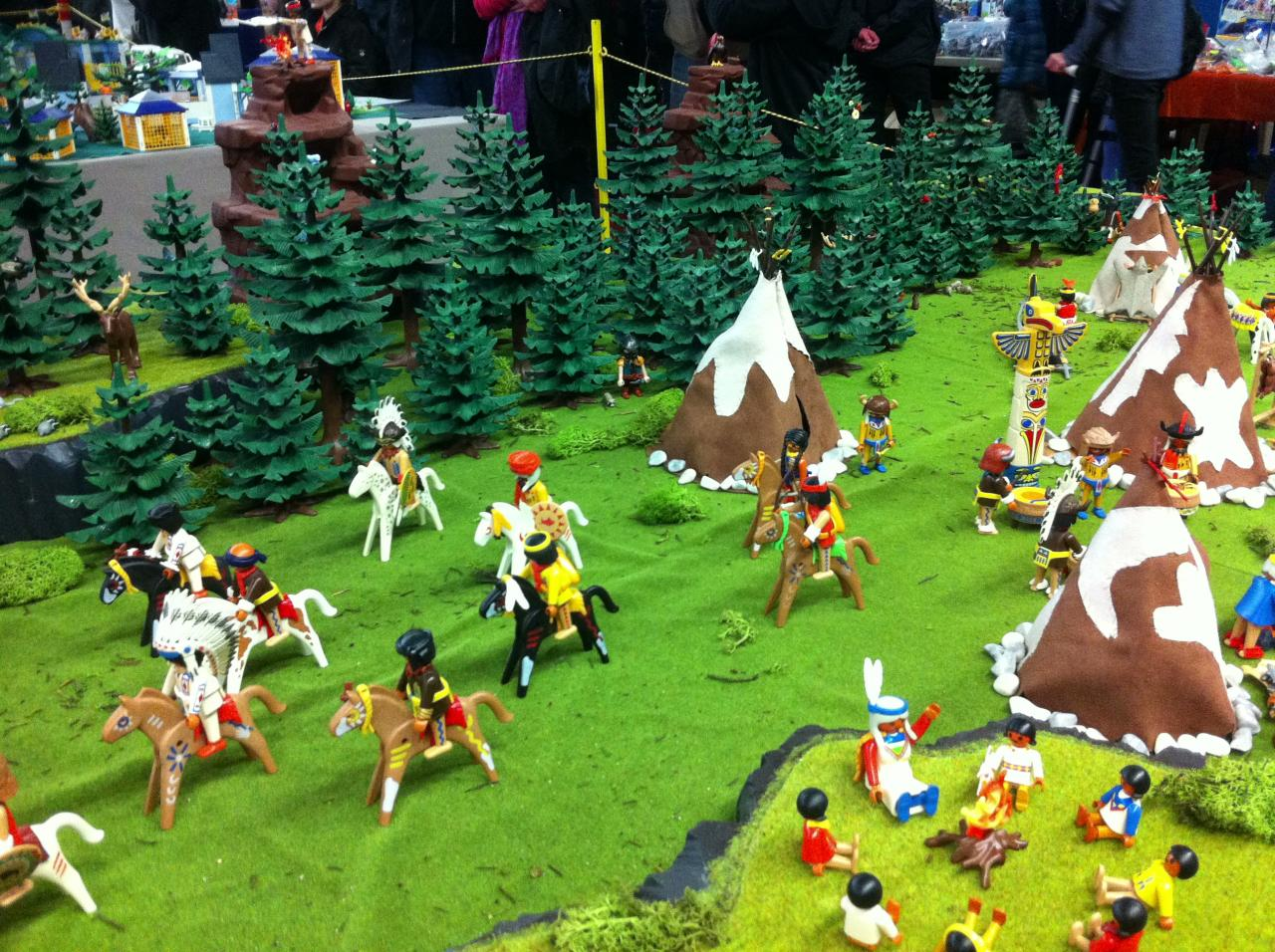 Diorama Pocahontas en Playmobil exposé à Sailly en 2015