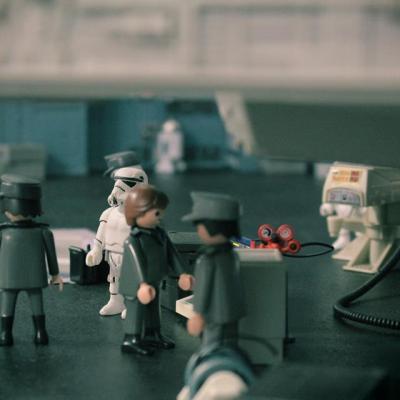 Starwars en playmobil - Etoile Noire - Faucon Millenium - Dark Vador