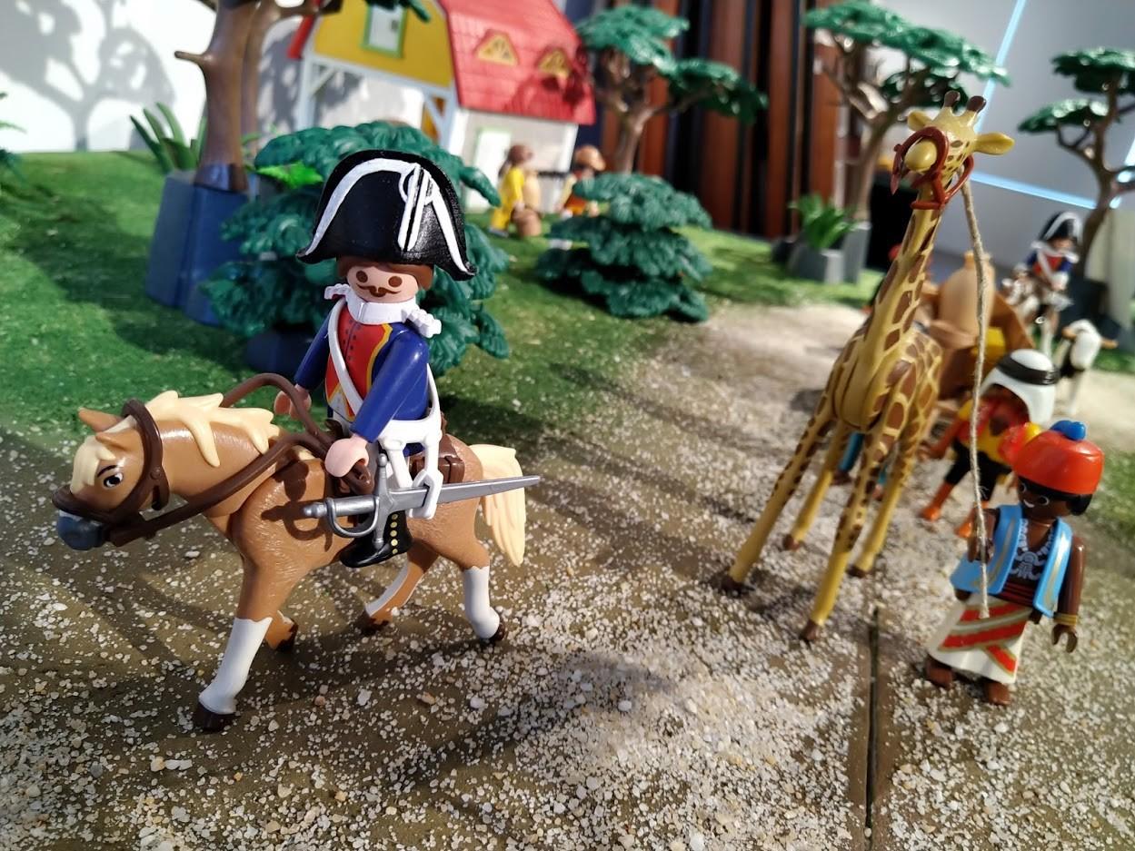 Zarafa la girafe mascote de la gendarmerie en playmobil