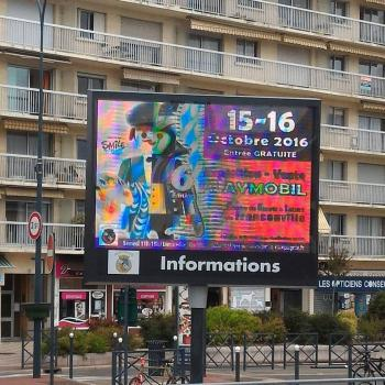 Affichage lumineux exposition playmobil