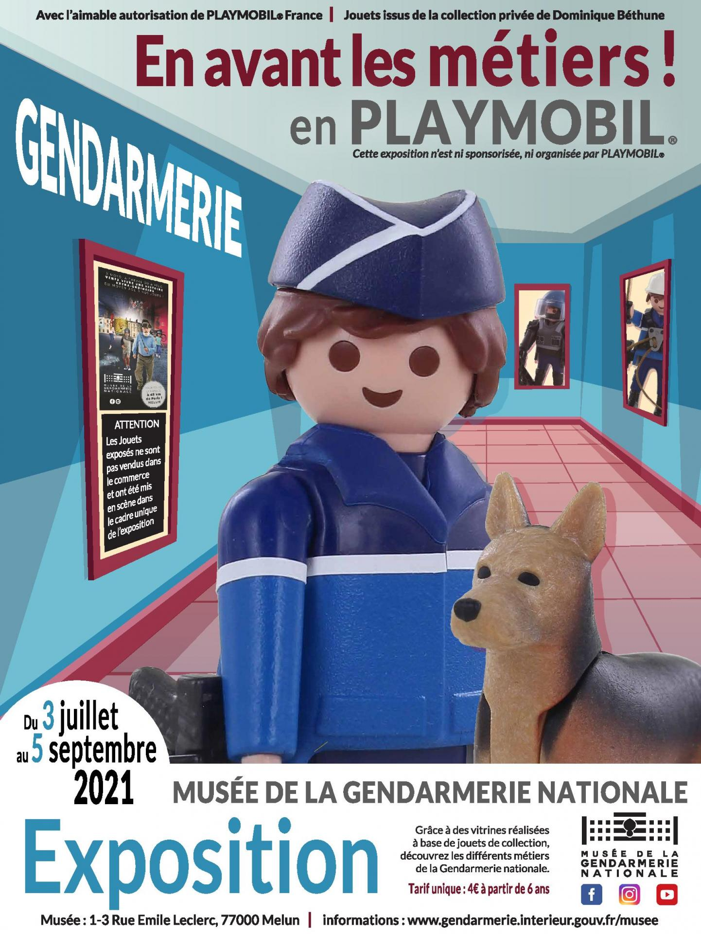 Affiche expo playmobil musee gendarmerie 2021 dominique bethune