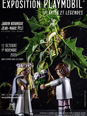 Affiche expo playmobil nancy jardins botaniques 2020 dominique bethune