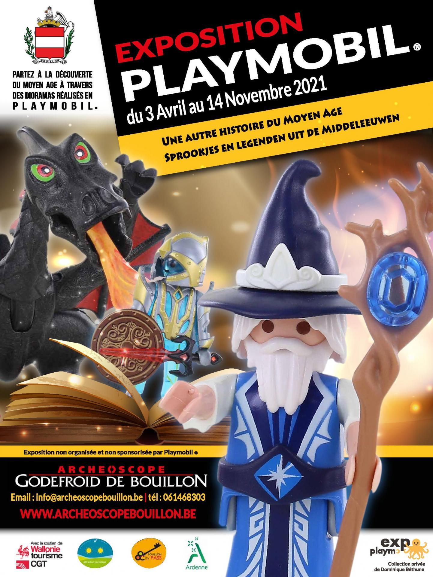 Exposition Playmobil à l'Archéoscope de Bouillon (Belgique)