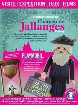 Affiche exposition playmobil chateau de jallanges aout 2020 dominique bethune